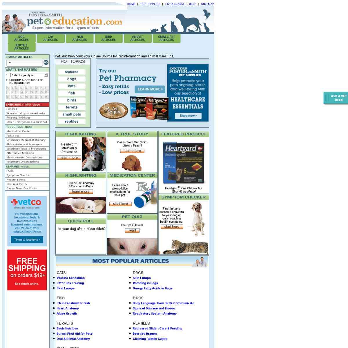Pet Education - Pet Health Care