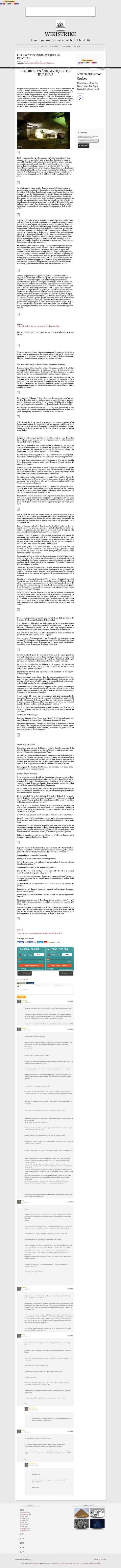 LES GROTTES ÉNIGMATIQUES DE HUASHAN - Wikistrike