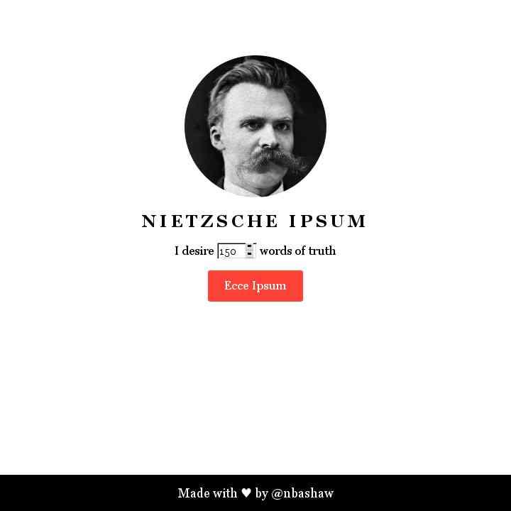 Nietzsche Ipsum