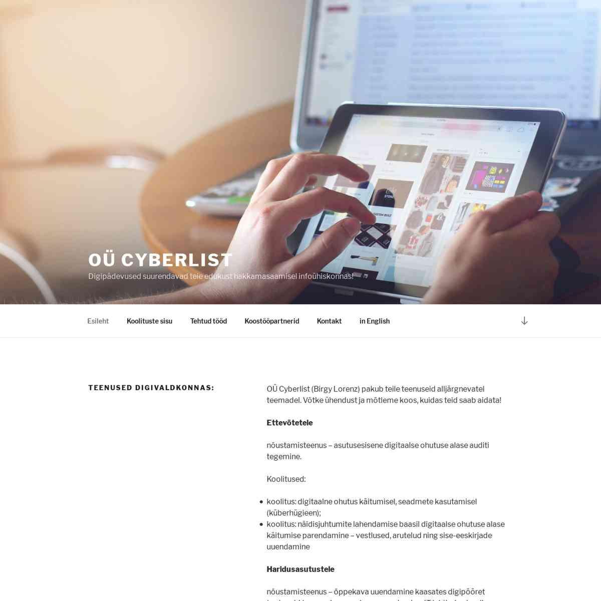 OÜ Cyberlist – Digipädevused suurendavad teie edukust hakkamasaamisel infoühiskonnas!