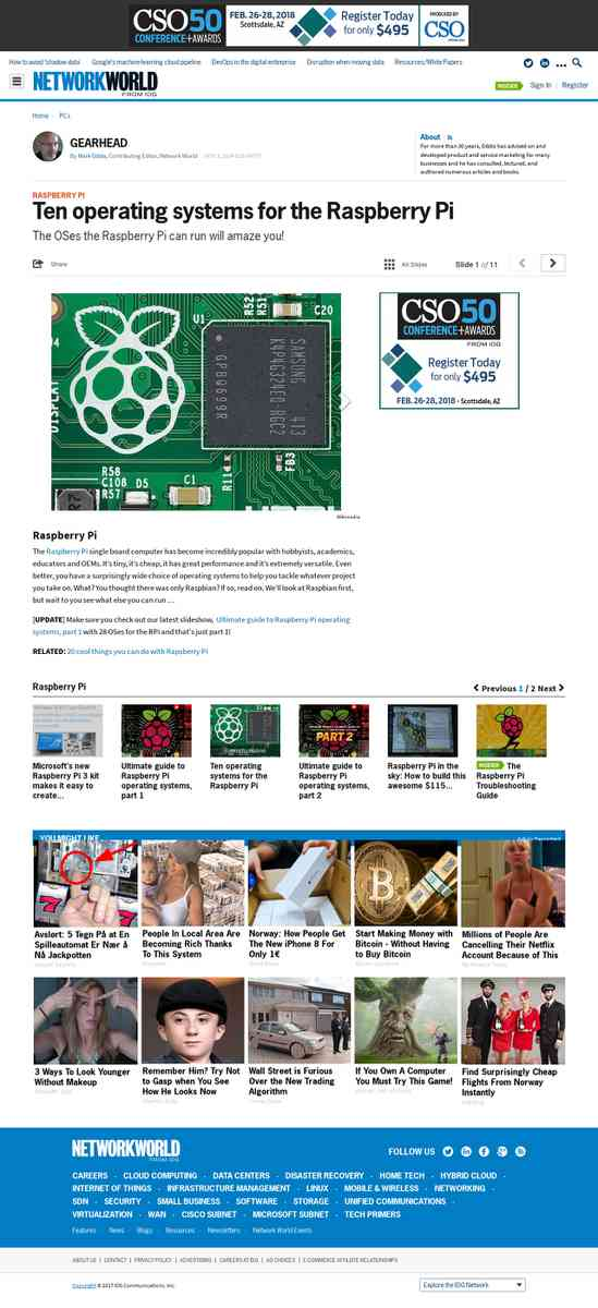 IDG Network World // en operating systems for the Raspberry Pi
