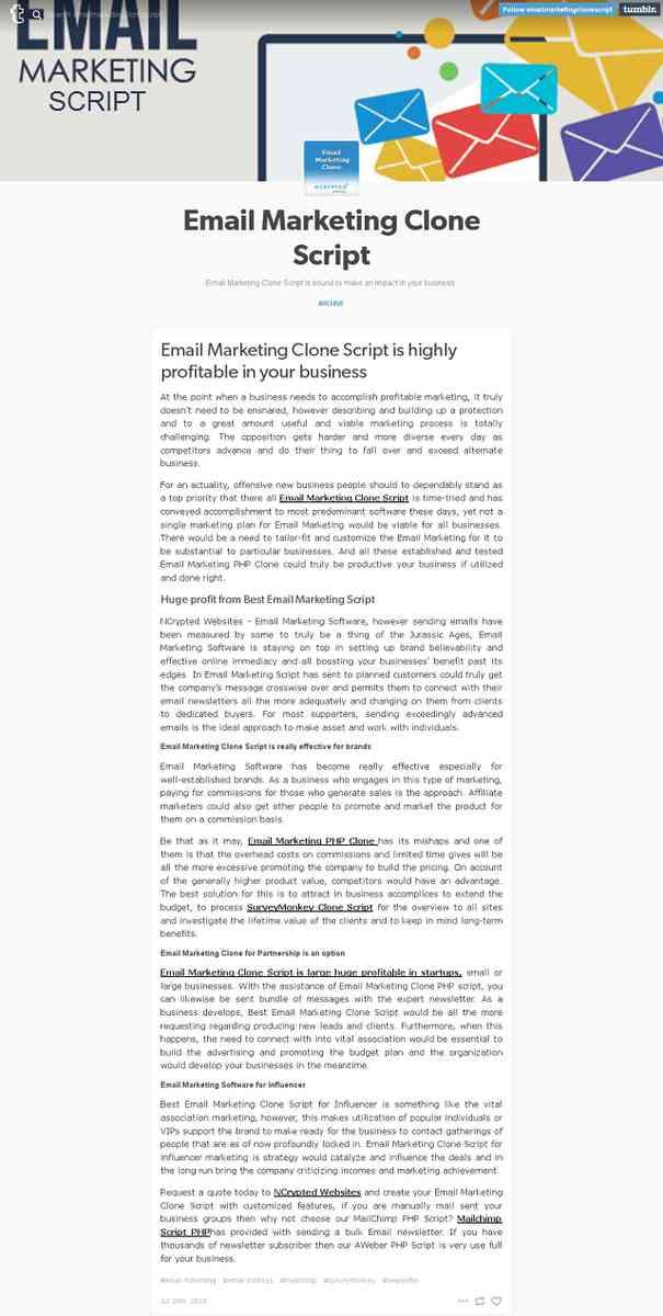 emailmarketingclonescript.tumblr.com/post/148097022218/email-marketing-clone-script-is-highly-profi…