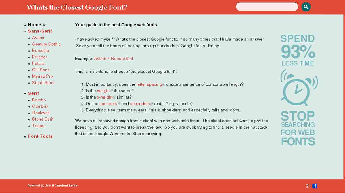 Your guide to the best Google web fonts | Whats the Closest Google Font?