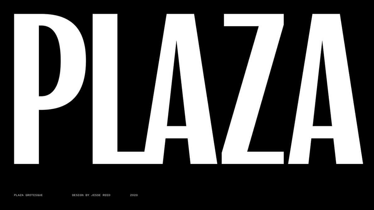 Plaza Grotesque - Reed Type