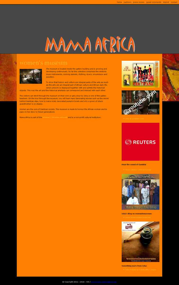 Mama Africa Gambia - part of the Women's Museum network