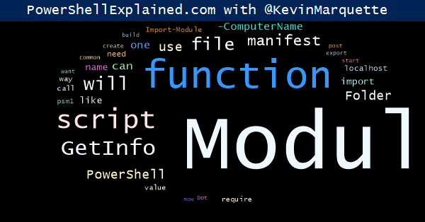 Powershell: Building a Module, one microstep at a time