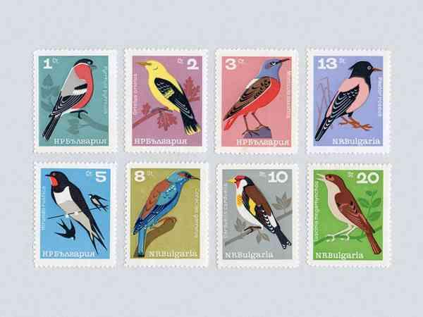Bulgarian Bird Stamps (1964)
