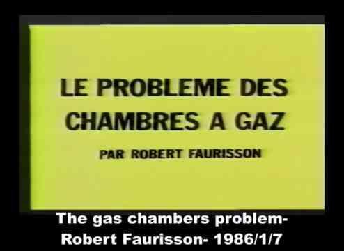 Robert Faurisson - Le problème des chambres à gaz (Low)