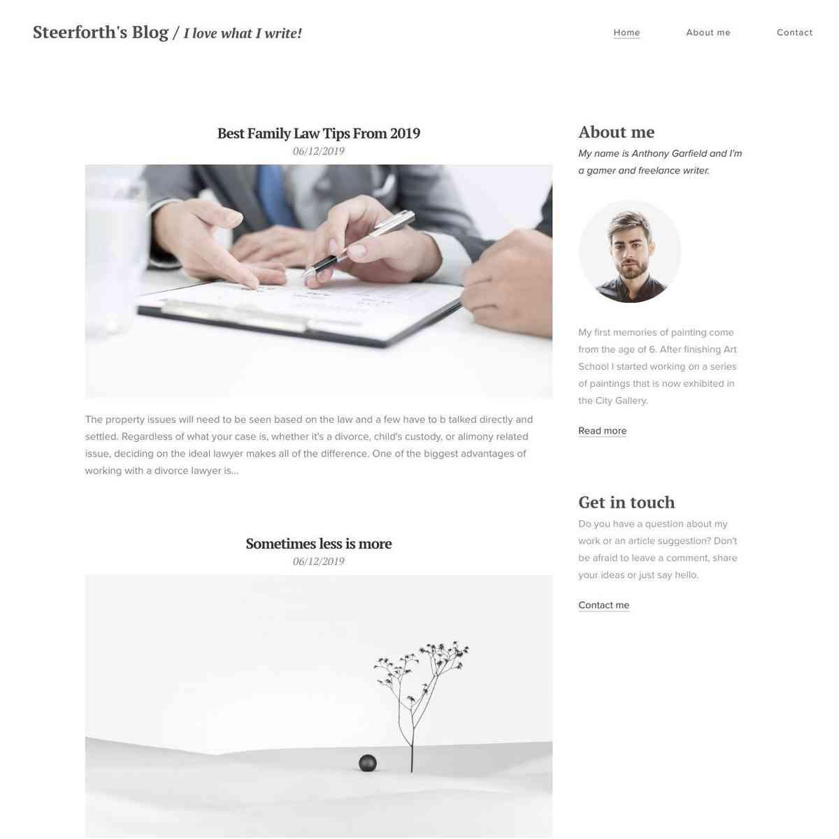 Steerforth Blog