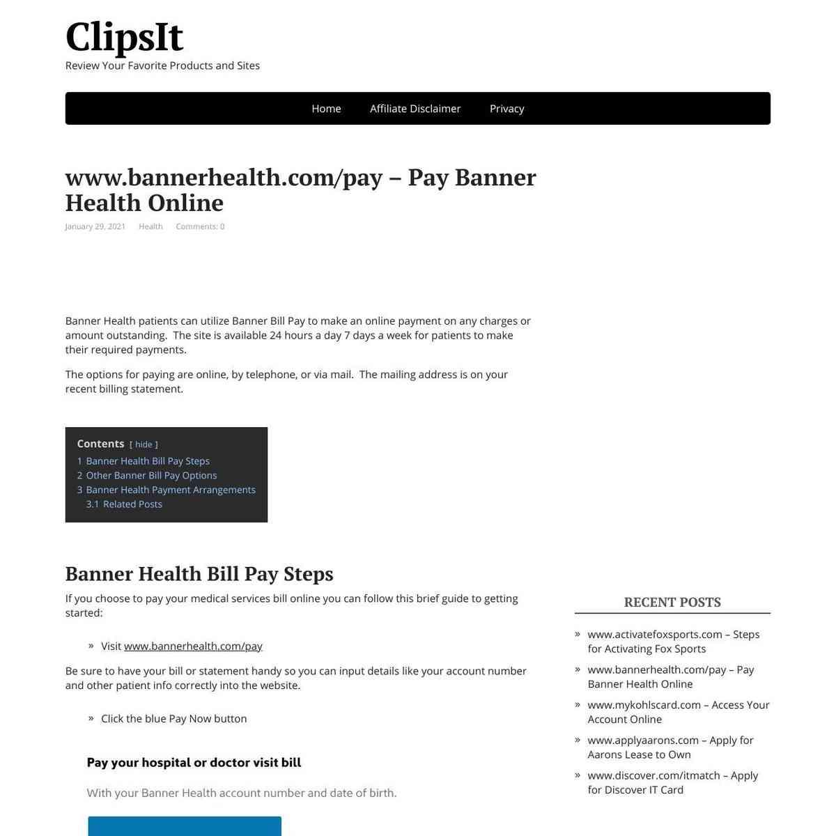 Banner Health Pay Bill