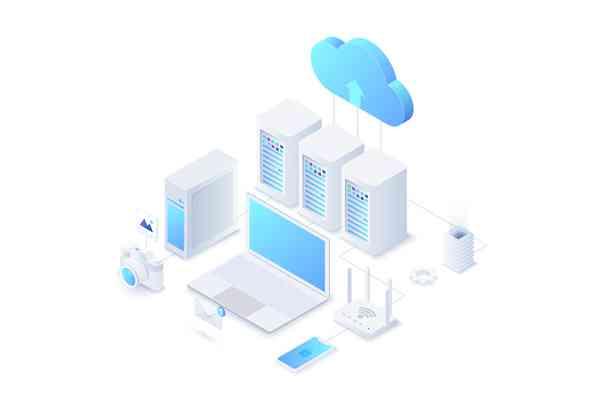 $ Isometric Cloud Technology Illustration