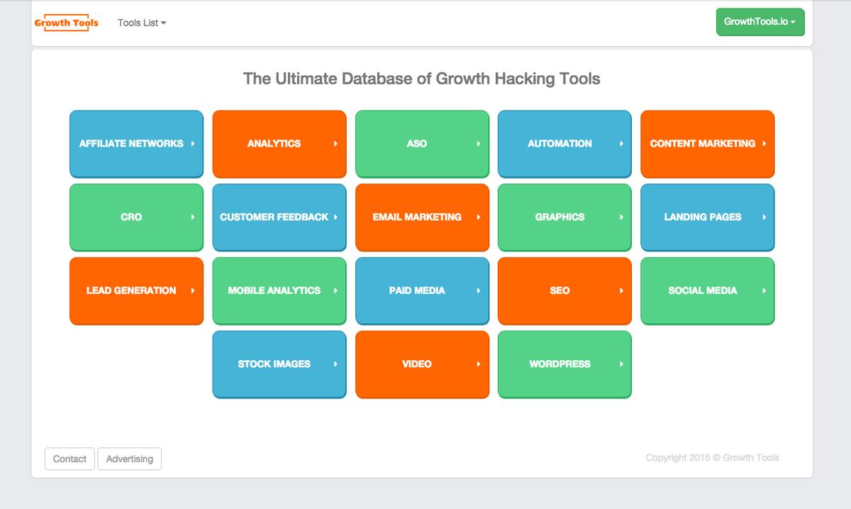 564 Growth Hacking Tools | Marketing Tools