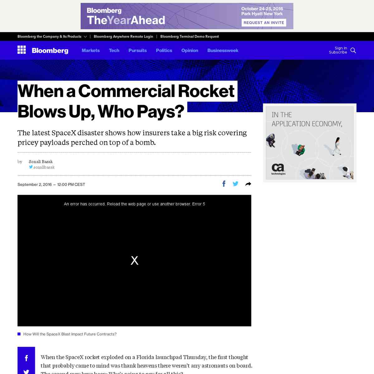 When a Commercial Rocket Blows Up, Who Pays? - Bloomberg