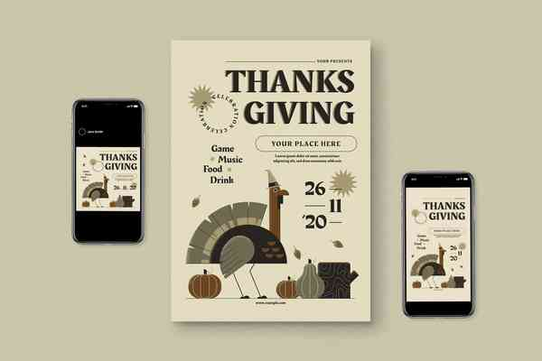 $ Thanksgiving Flyer Set