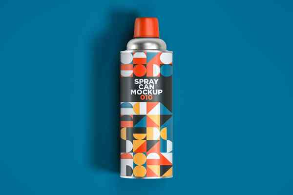 $ Spray Can Mockup