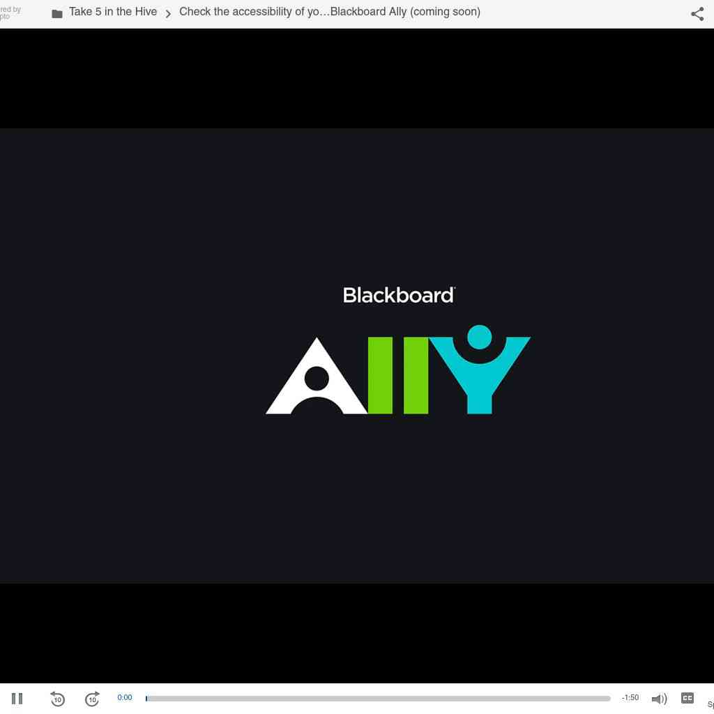 Intro to Blackboard Ally