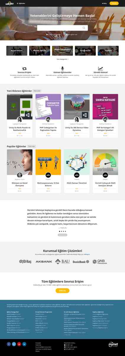 Vidobu - Online Video Eğitim Sitesi