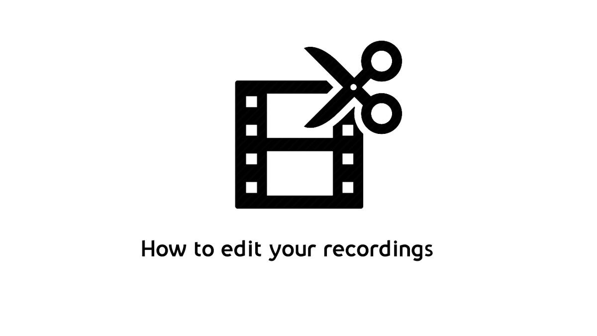 Panopto editing tutorial