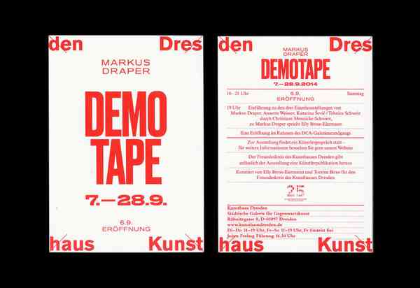 Kunsthaus Dresden: Social Motions / Demotape / German Angst - Fonts In Use