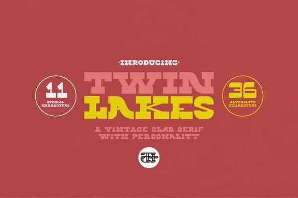 Twin Lakes Display Font