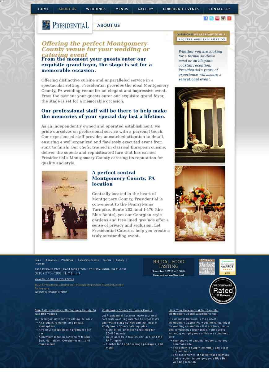 Wedding Venues & Catering Montgomery County PA | Presidential