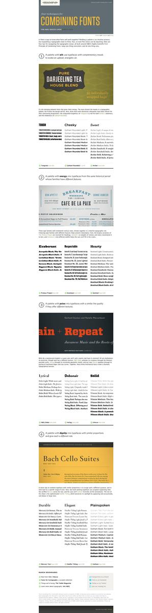 H&FJ Four Techniques for Combining Fonts