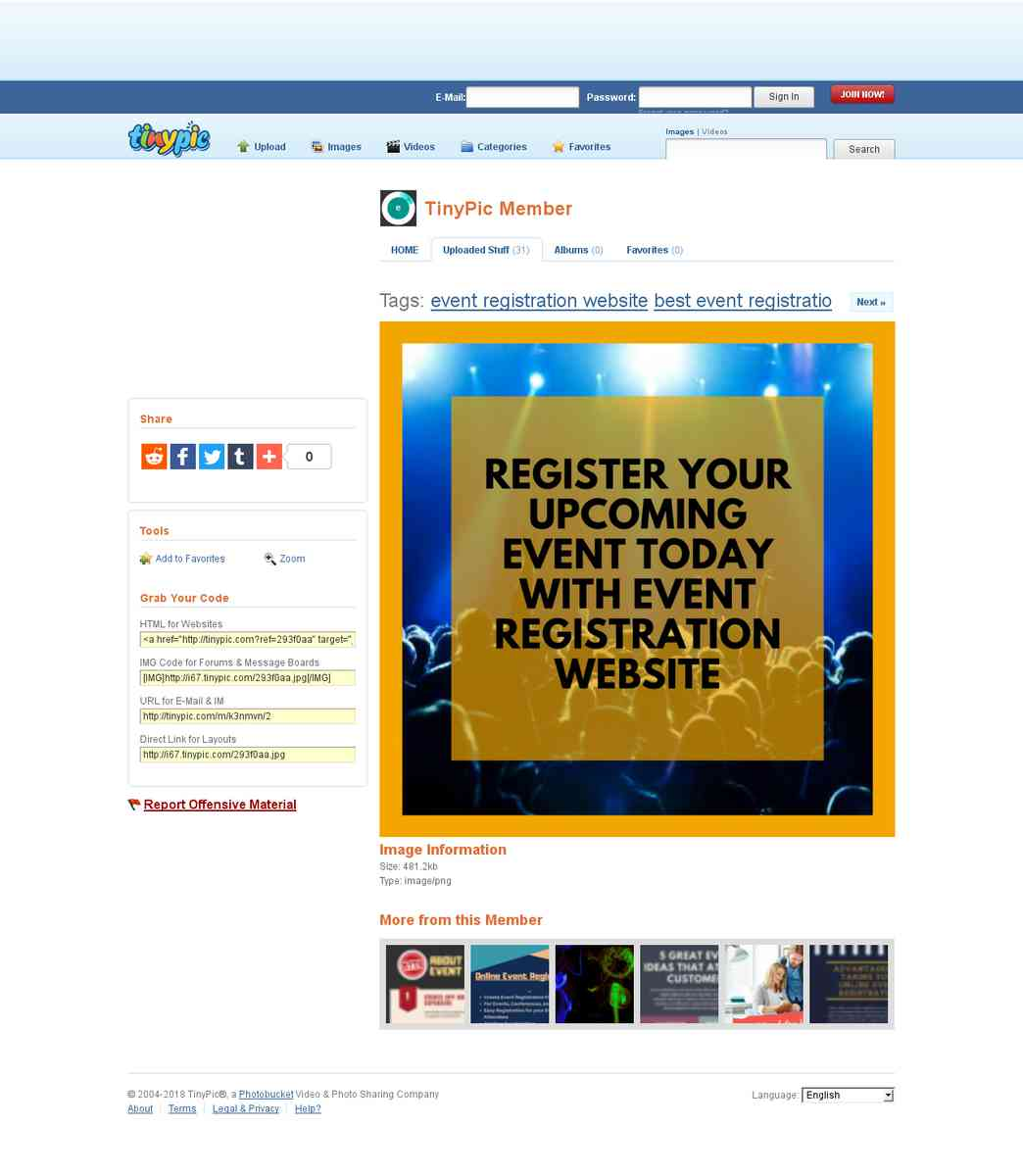 Easy Online Event Registration Website – Eventry