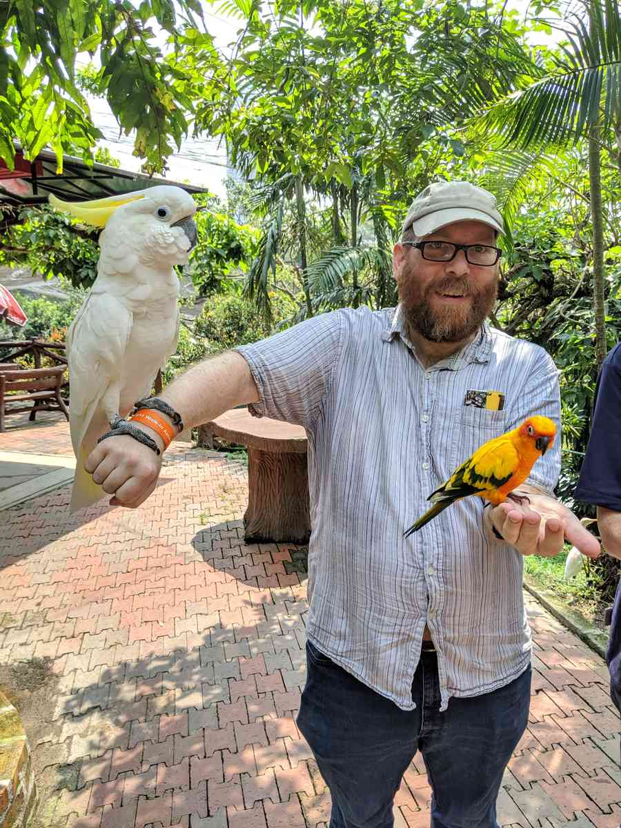 02. KL Bird park, flight to Kuching
