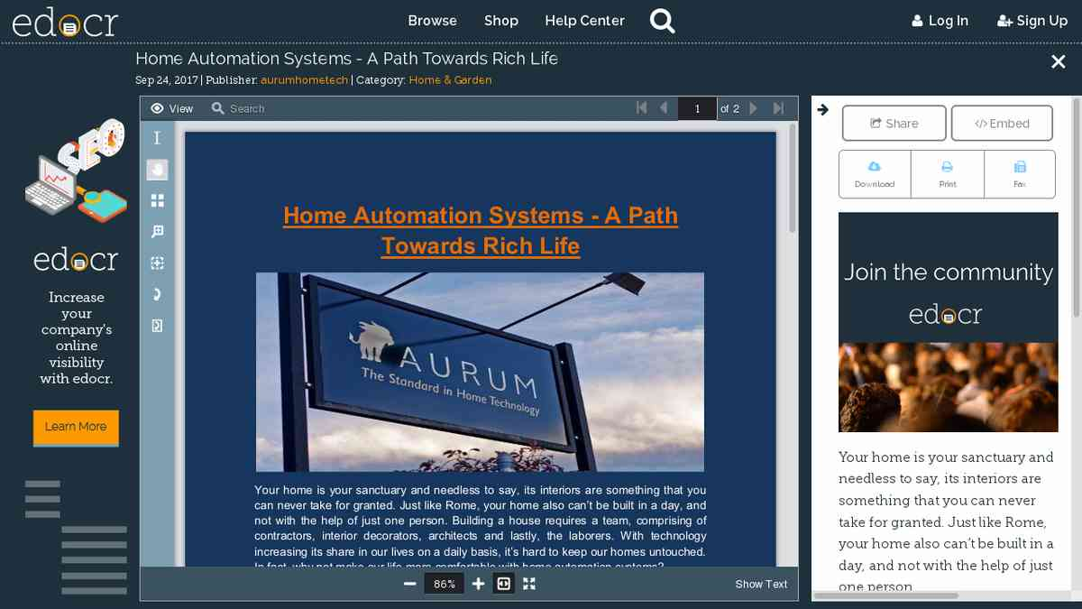 Home Automation Systems - A Path Towards Rich Life