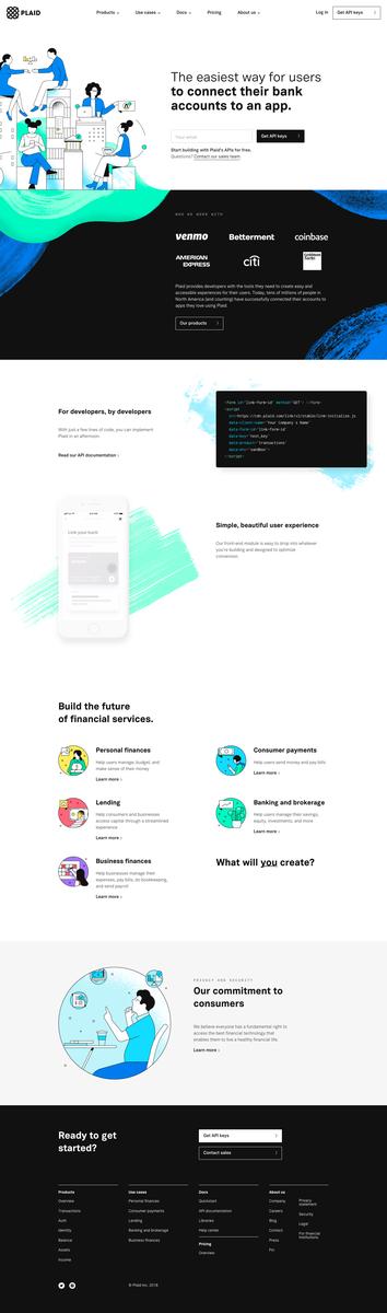 Homepage - Plaid