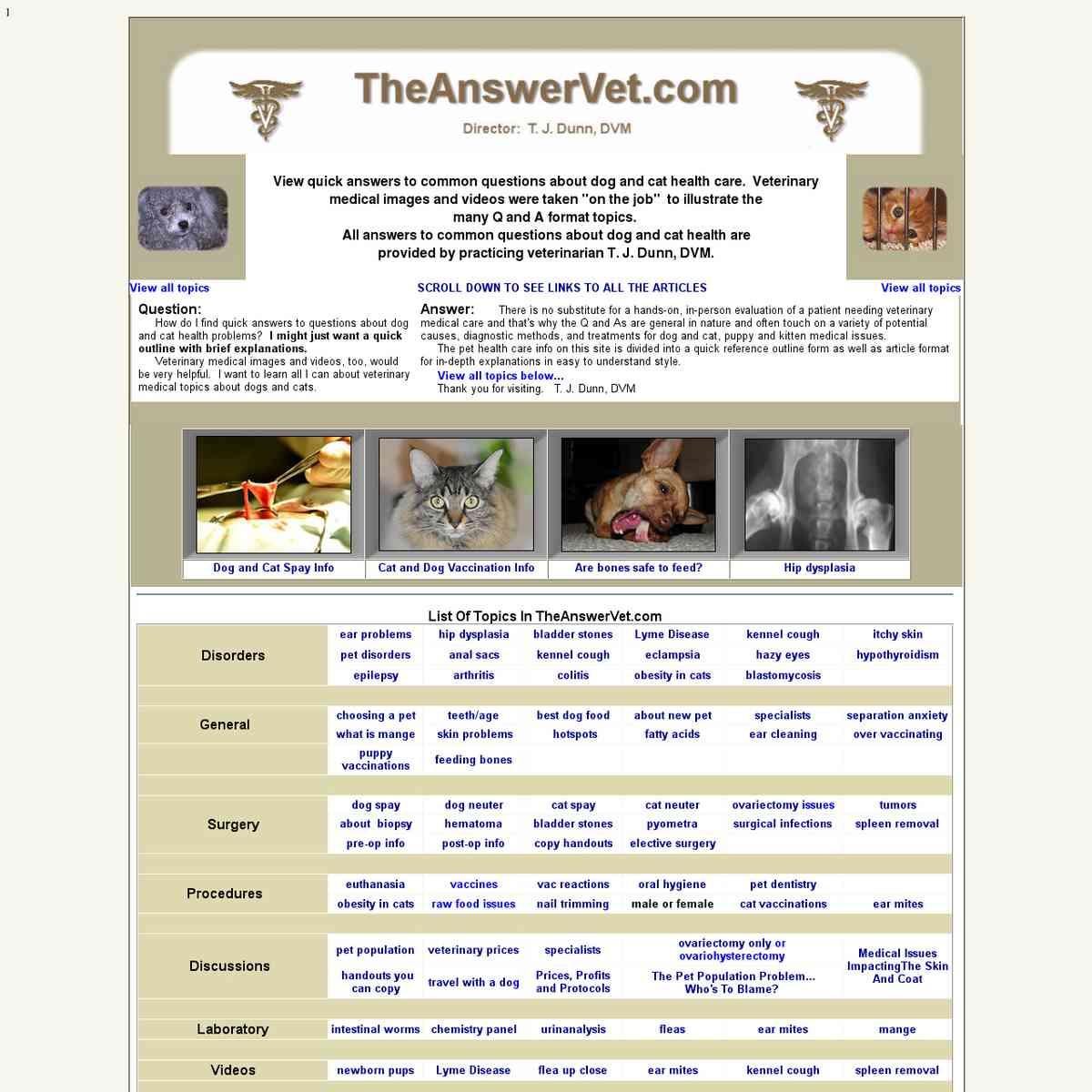 The Answer Vet - T. J. Dunn, DVM