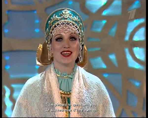 Russian Folk Songs - Russian TV - Ludmila Zykina ( Subtitles )