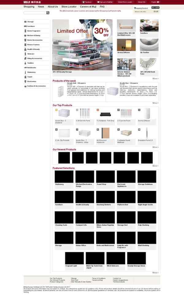 MUJI Online - Bienvenue sur le site de vente en ligne MUJI