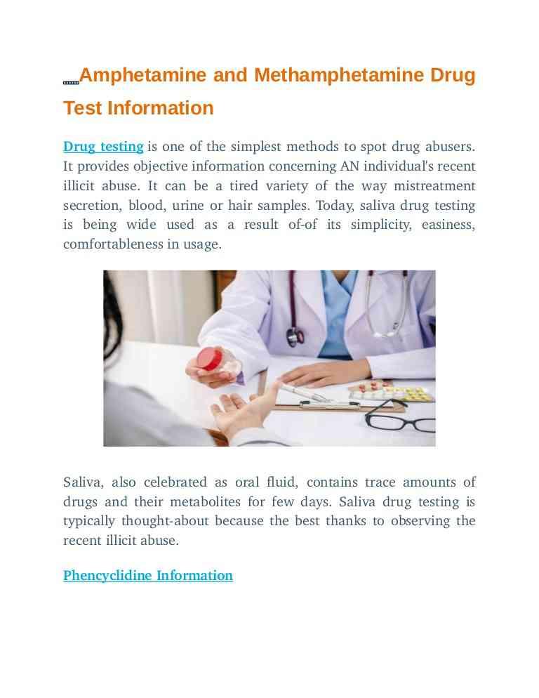 Amphetamine and methamphetamine_drug_test_information