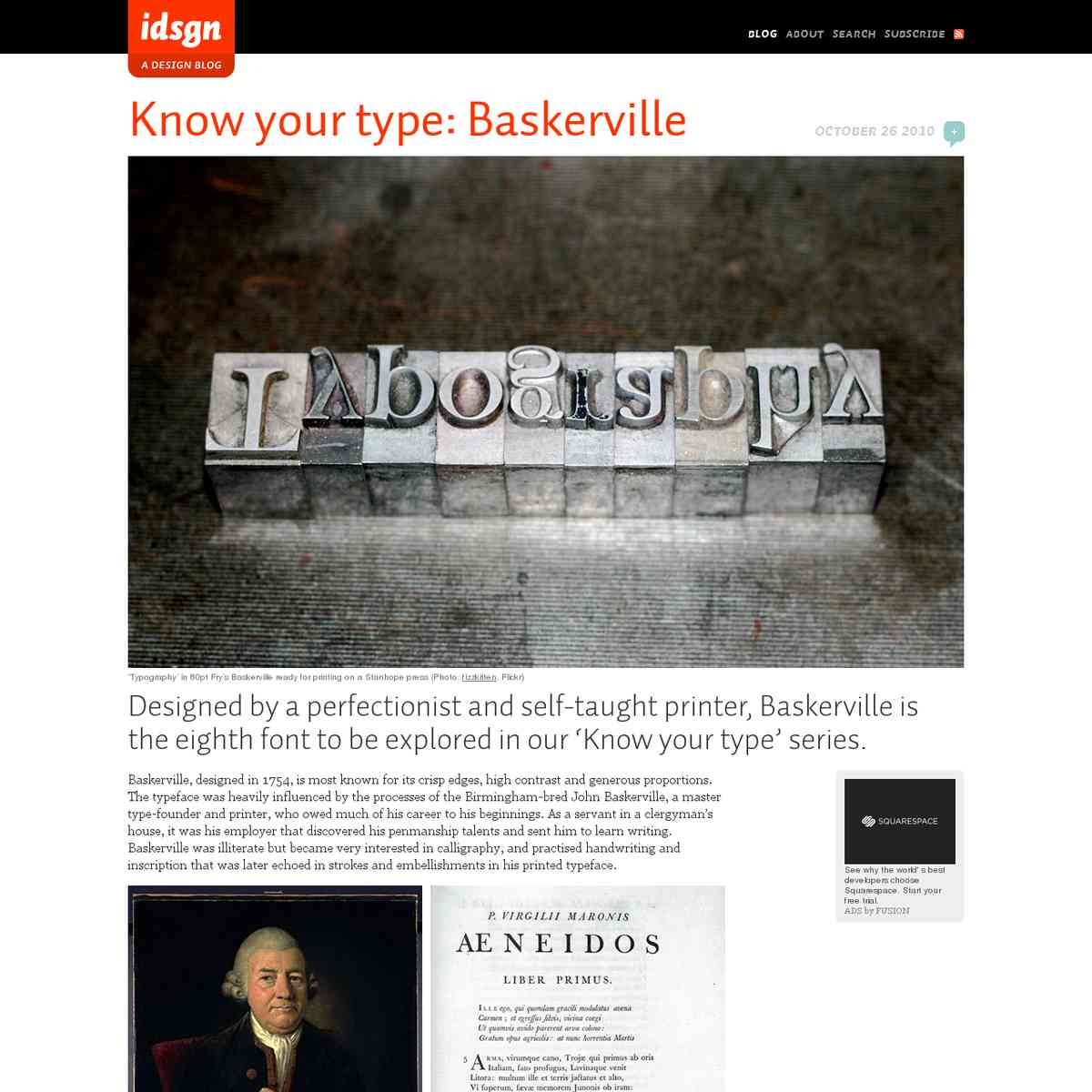 Know your type: Baskerville