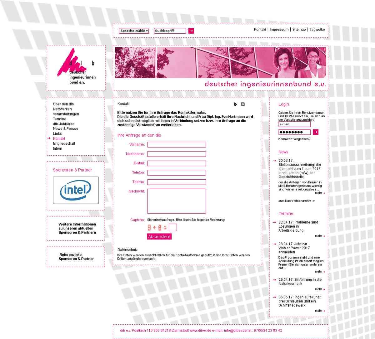 Kontakt deutscher ingenieurinnenbund
