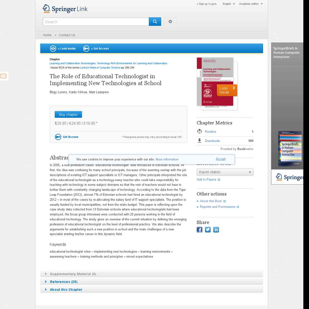 The Role of Educational Technologist in Implementing New Technologies at School - Springer