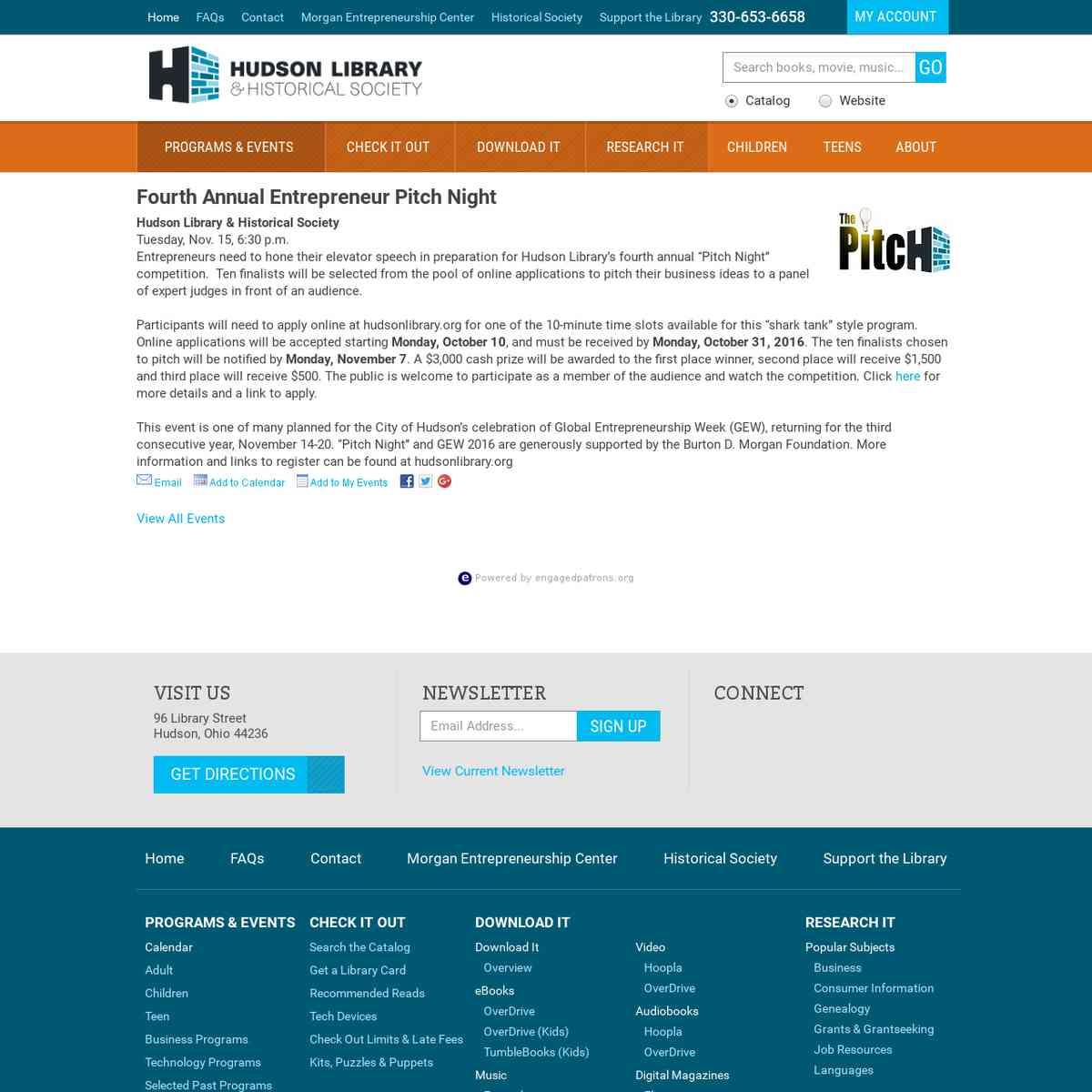 Hudson Library – HUDSON LIBRARY & HISTORICAL SOCIETY