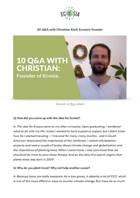 Q&A with Christian Kroll English