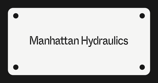 Manhattan Hydraulics: A down-to-earth product studio