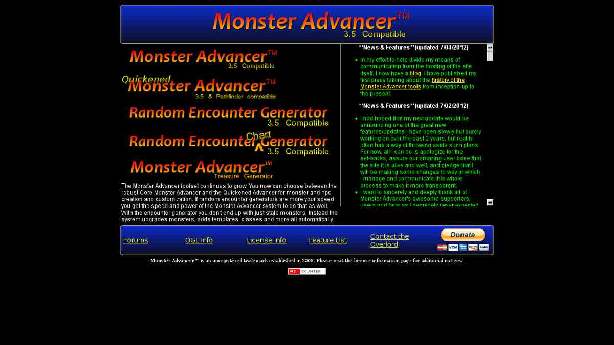 Gen - 3.5/PF Monster Advancer