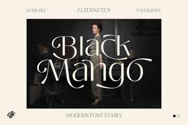 Black Mango Font