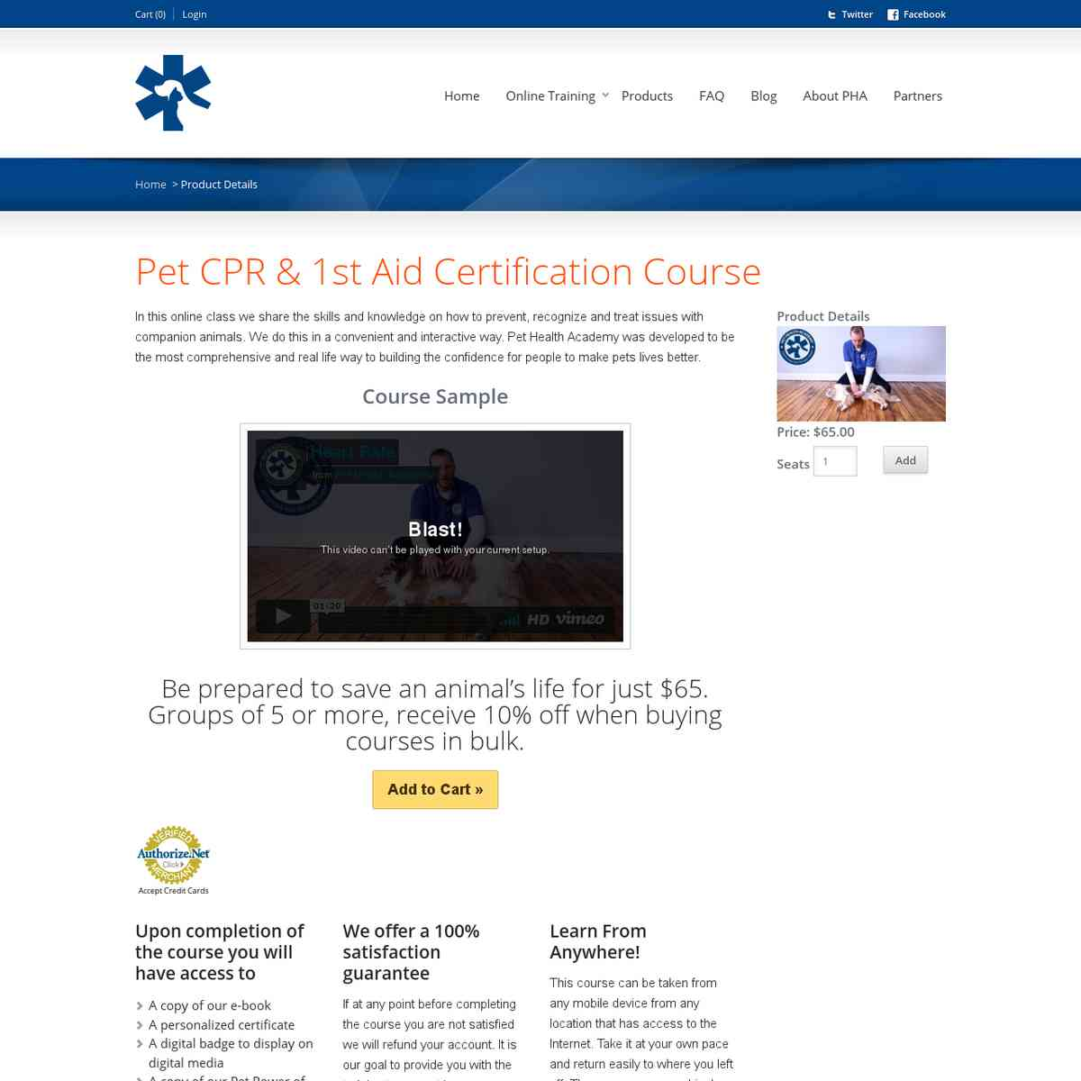Pet CPR & 1st Aid Certification