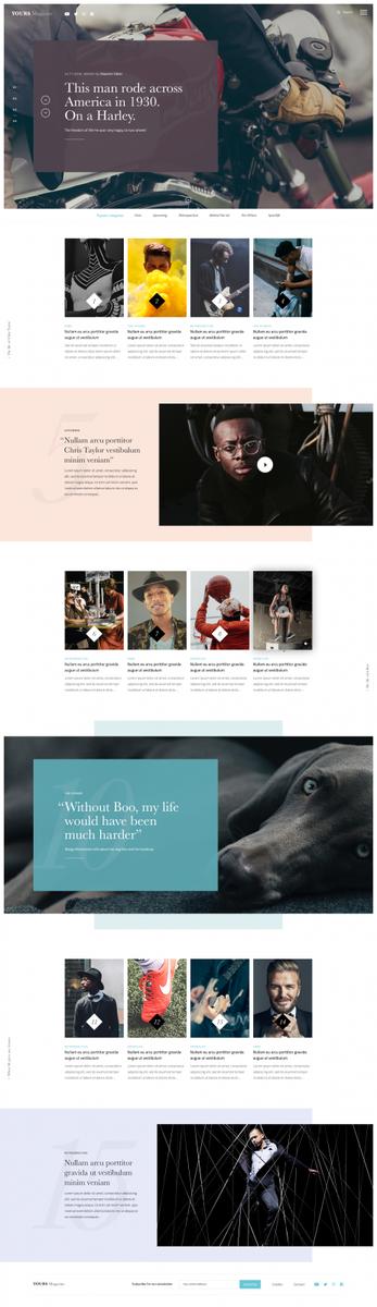 Dribbble - magazine-timeline.png by Bart Ebbekink
