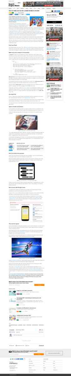 How do I make sure my site is mobile friendly? A checklist | Search Engine Watch