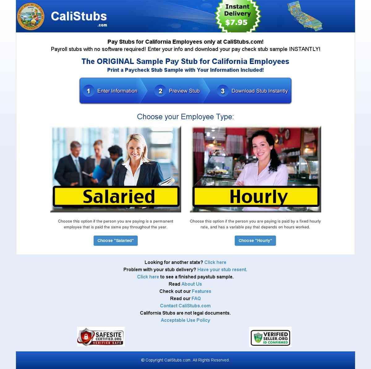 California Paystub Samples California Stub Sample Generator