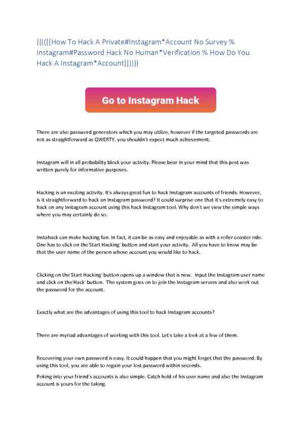 How To Hack An Old Instagram Account 2021