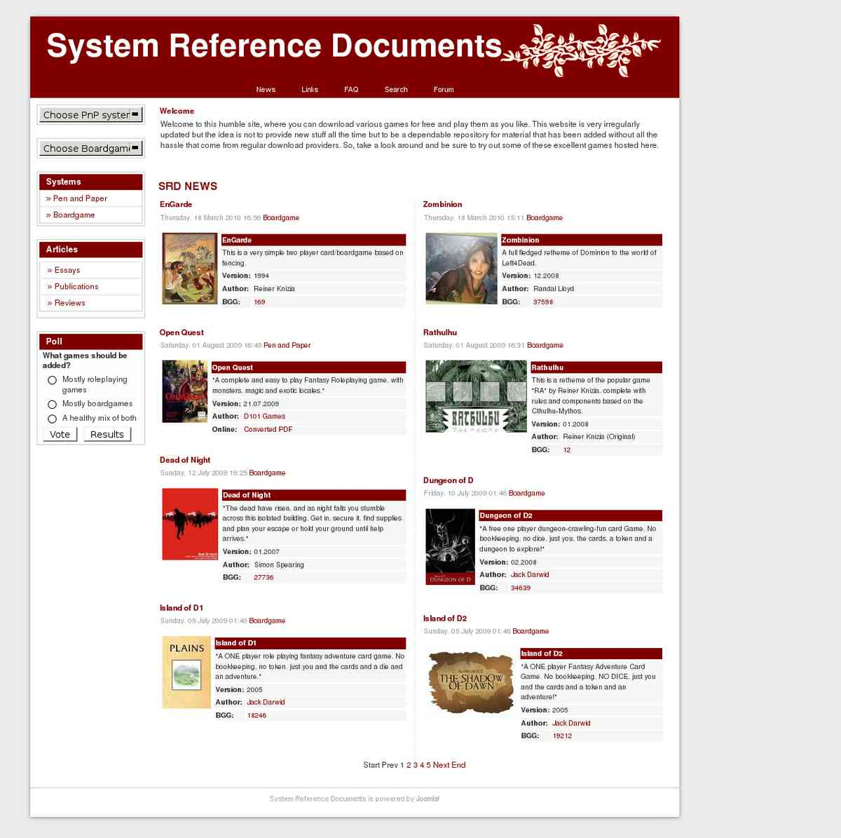 Library - System Reference (14 games, text only)