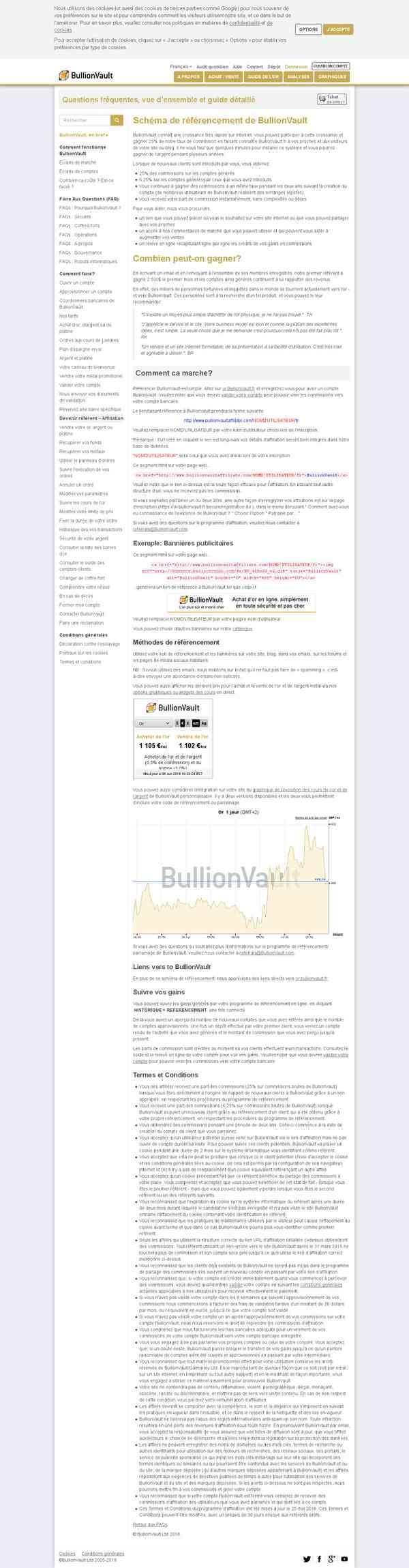 Programme d'affiliation BullionVault
