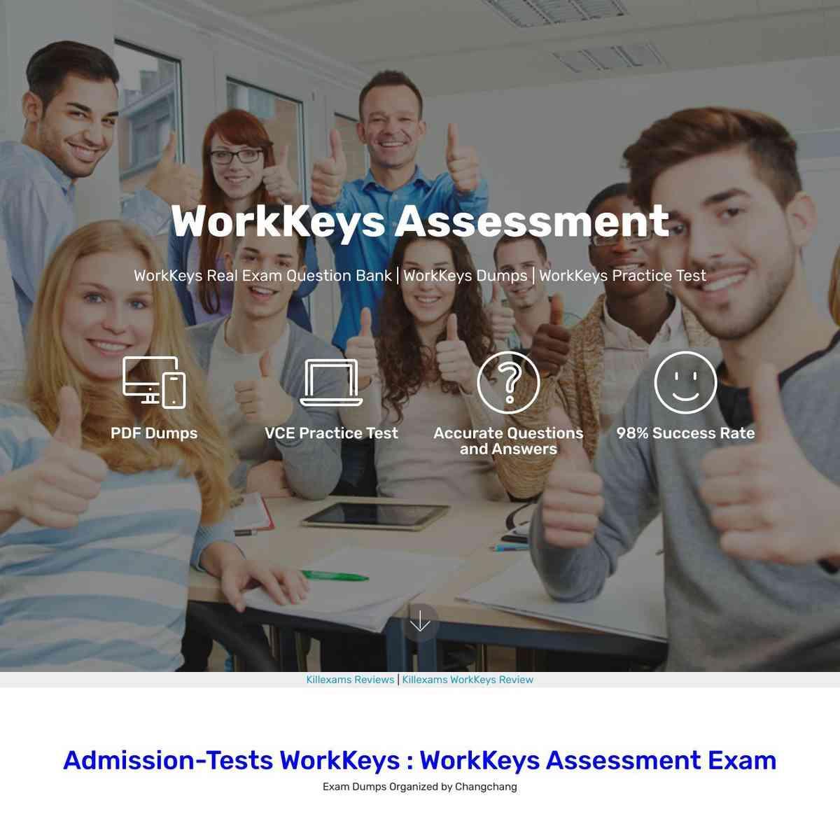 0day updated free WorkKeys Free Exam PDF with real exam PDF Braindumps